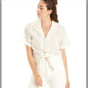 Patrons of Peace eyelet blouse